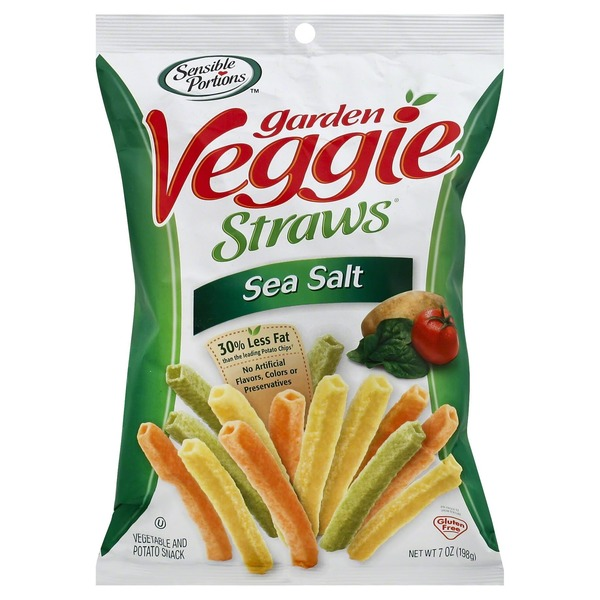 Sensible Portions Garden Veggie Straws Sea Salt